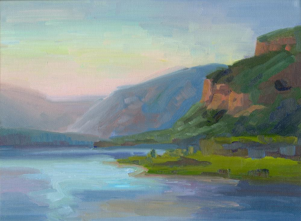 """GORGE TALL CLIFFS"" original fine art by Karen E Lewis"