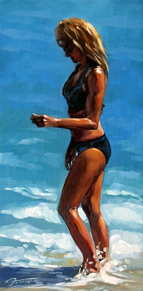 """Black Bikini"" original fine art by Joanna Bingham"