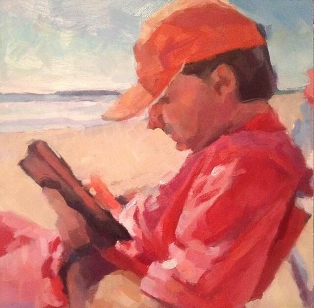 """Summer Holiday"" original fine art by Paula Howson-Green"