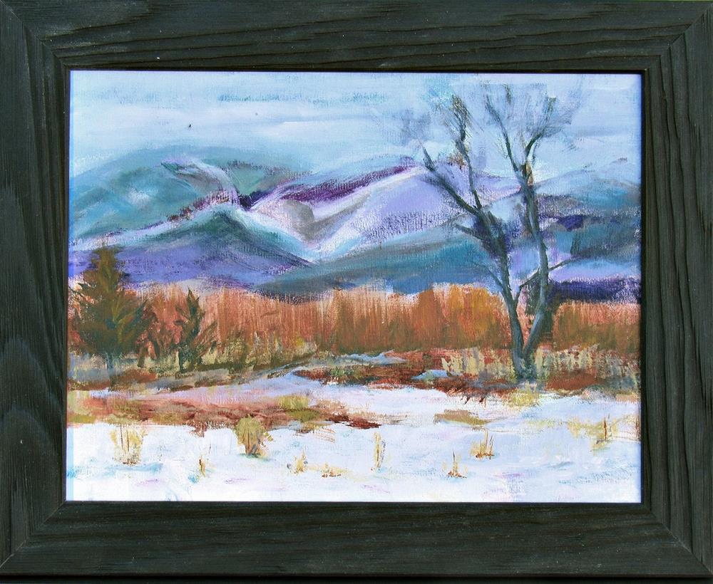 """New Hampshire Snow"" original fine art by Dave Gehman"