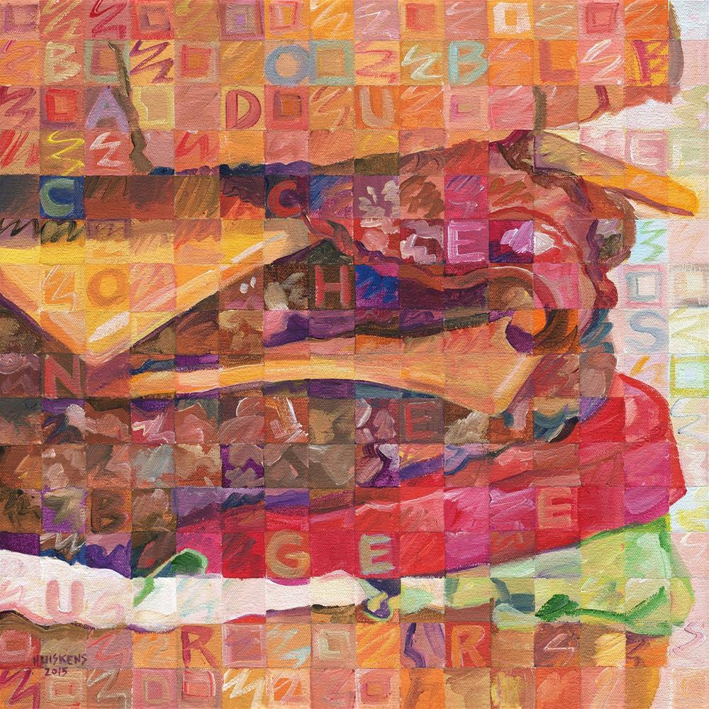 """Bacon Double Cheeseburger"" original fine art by Randal Huiskens"