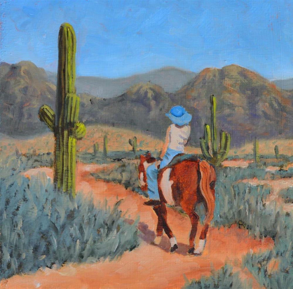 """The Dusty Trail"" original fine art by Robert Frankis"
