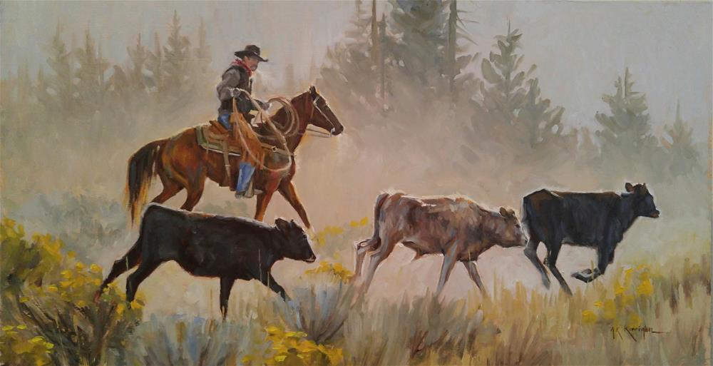 """Morning Run"" original fine art by Rick Kennington"