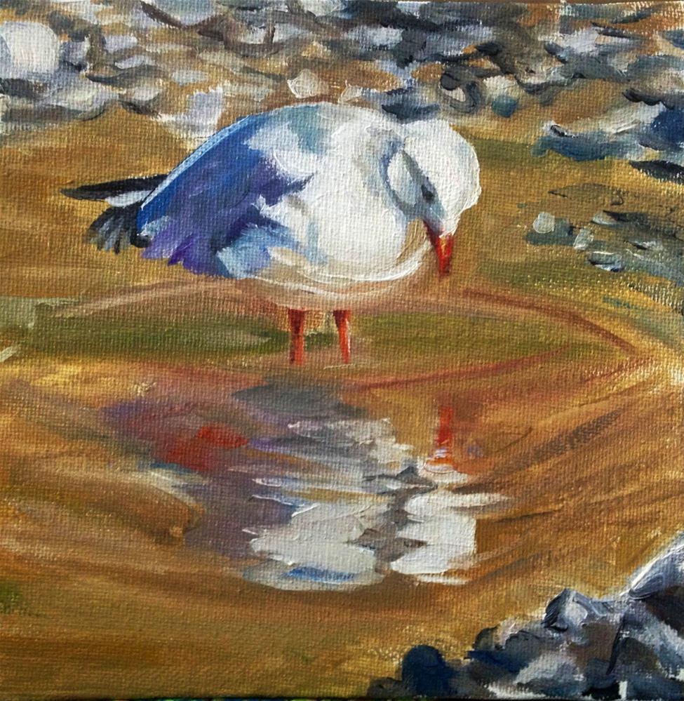 """Narcissus"" original fine art by Lauren Kuhn"