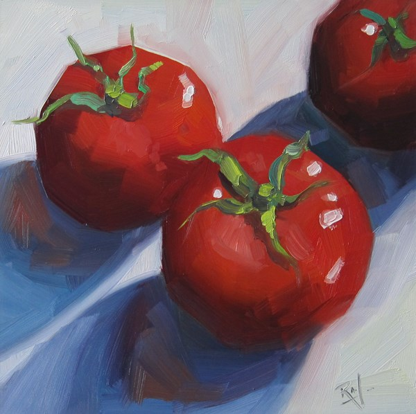 """No 790 Three for Lunch"" original fine art by Robin J Mitchell"