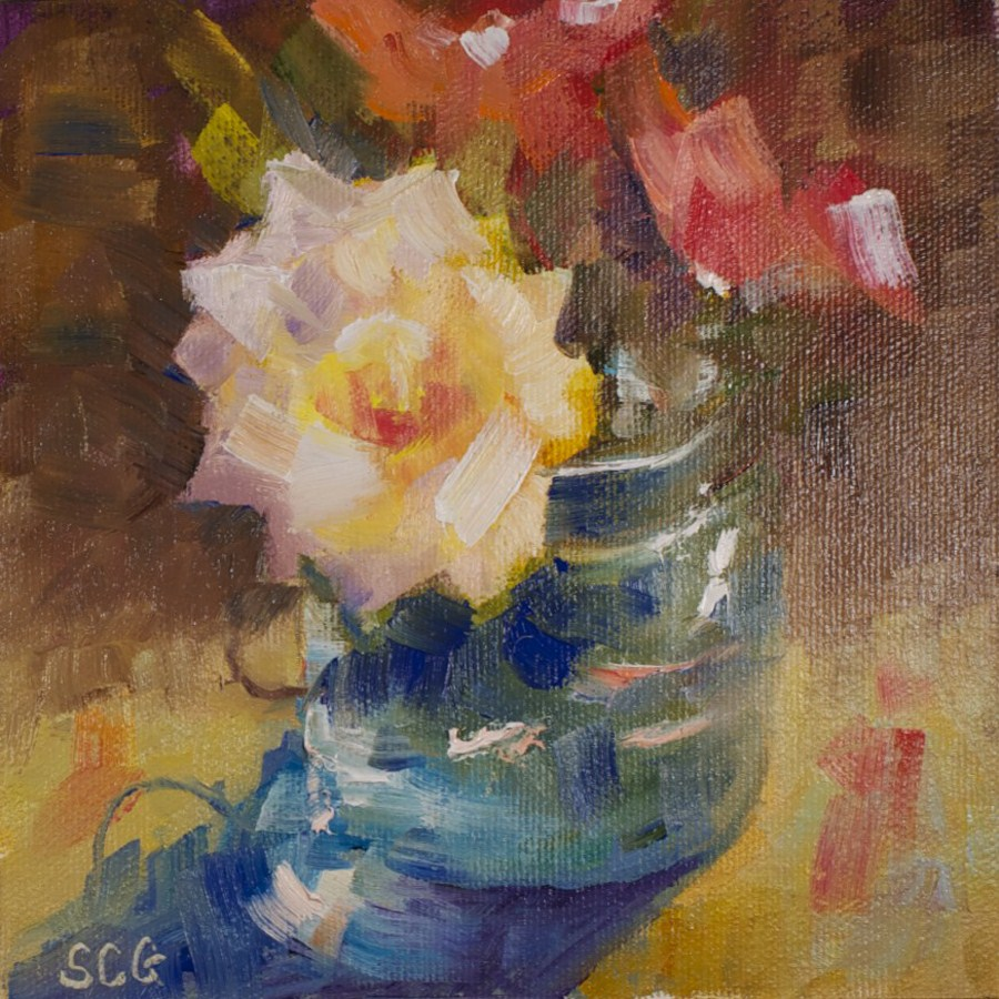 """Roses #1"" original fine art by Sue Churchgrant"