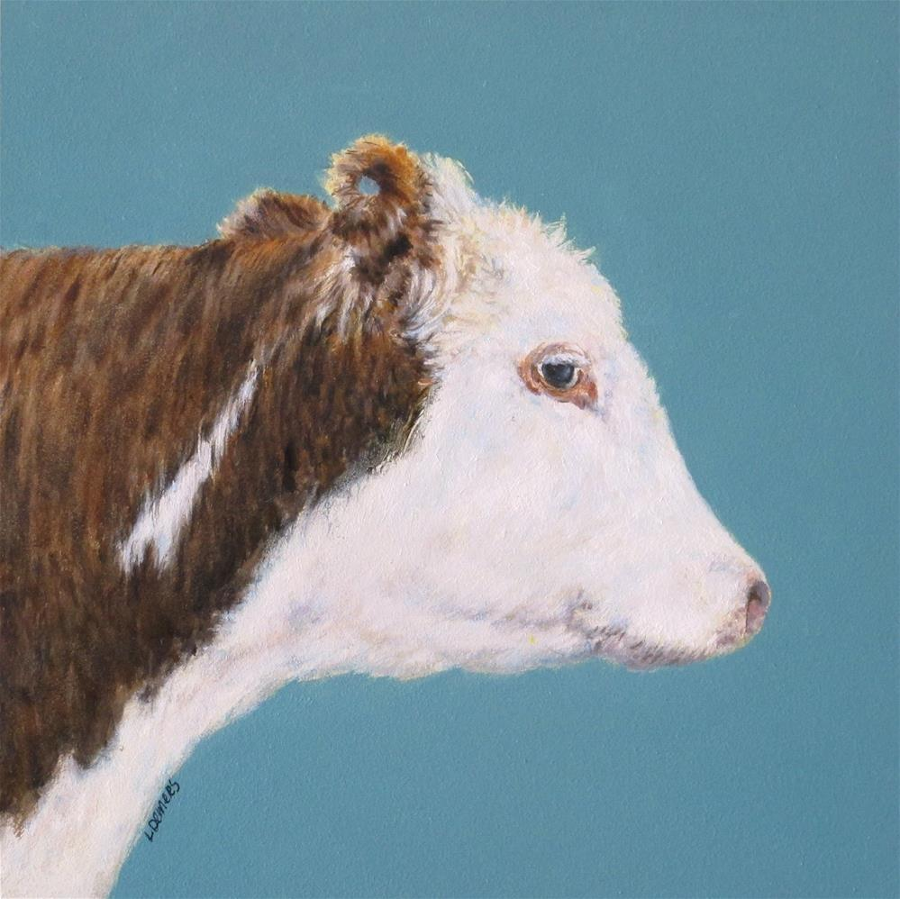"""Hereford Cow"" original fine art by Linda Demers"