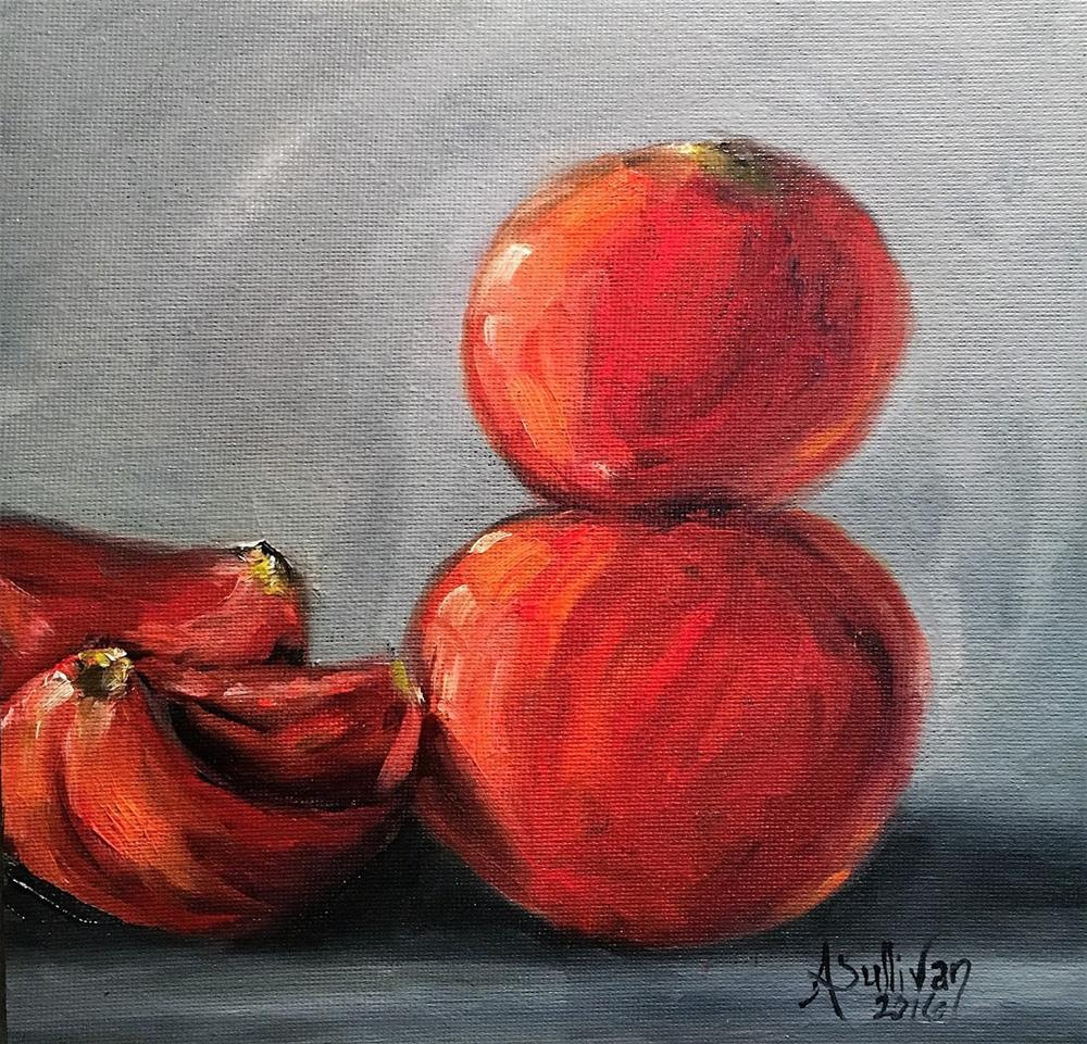 """Top Heavy still life painting by Alabama Artist Angela Sullivan"" original fine art by Angela Sullivan"