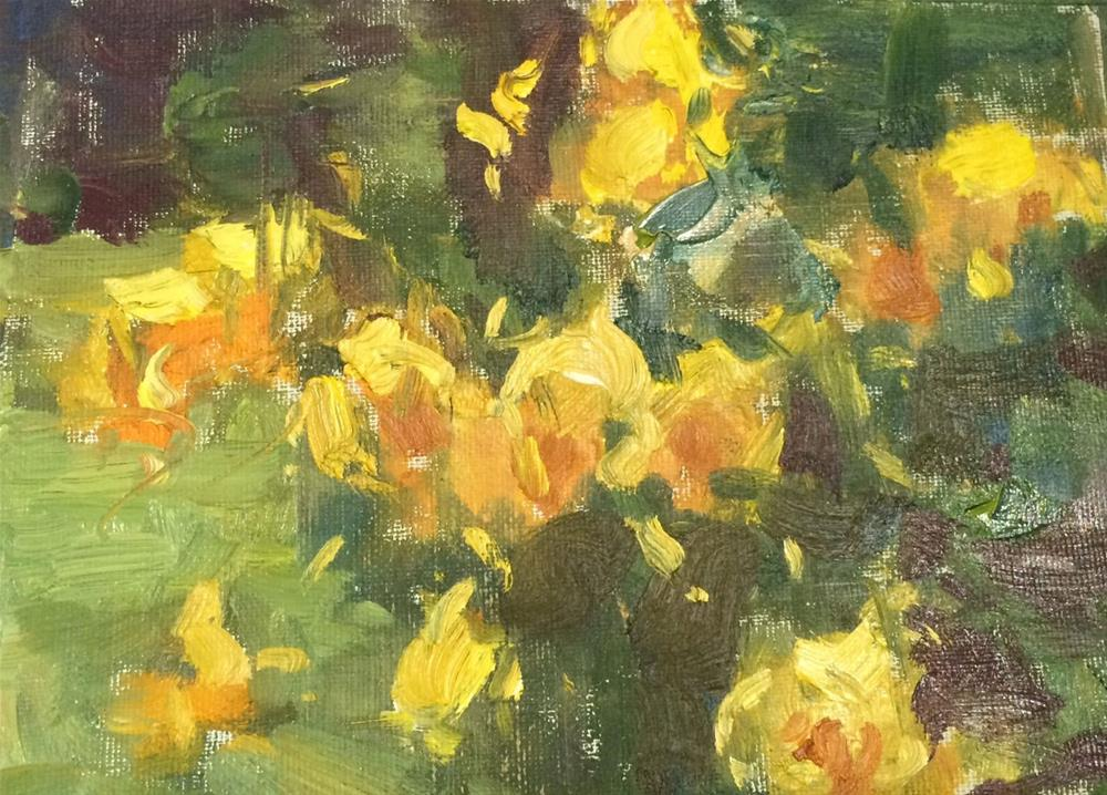 """Rainy Day Roses "" original fine art by Michael Clark"