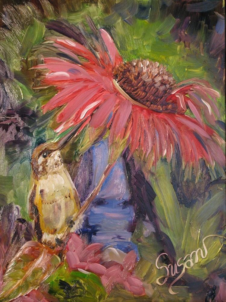 """""""Hummin' Along"""" original fine art by Susan E Jones"""