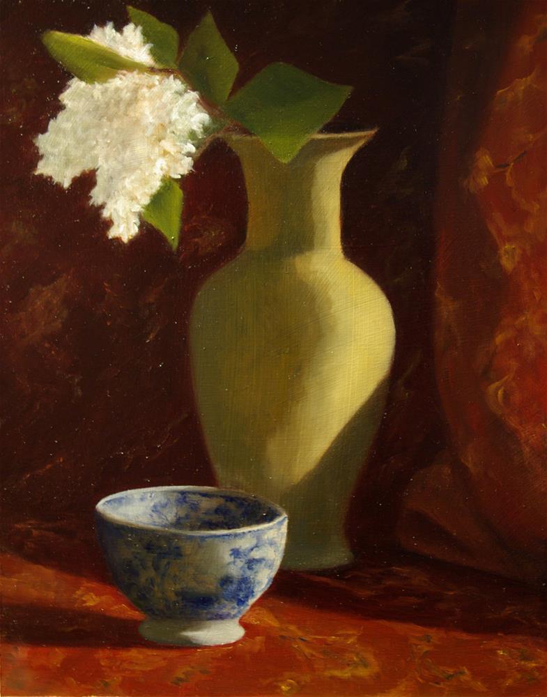 """""""Vase & Bowl"""" original fine art by G. G. Slockett"""
