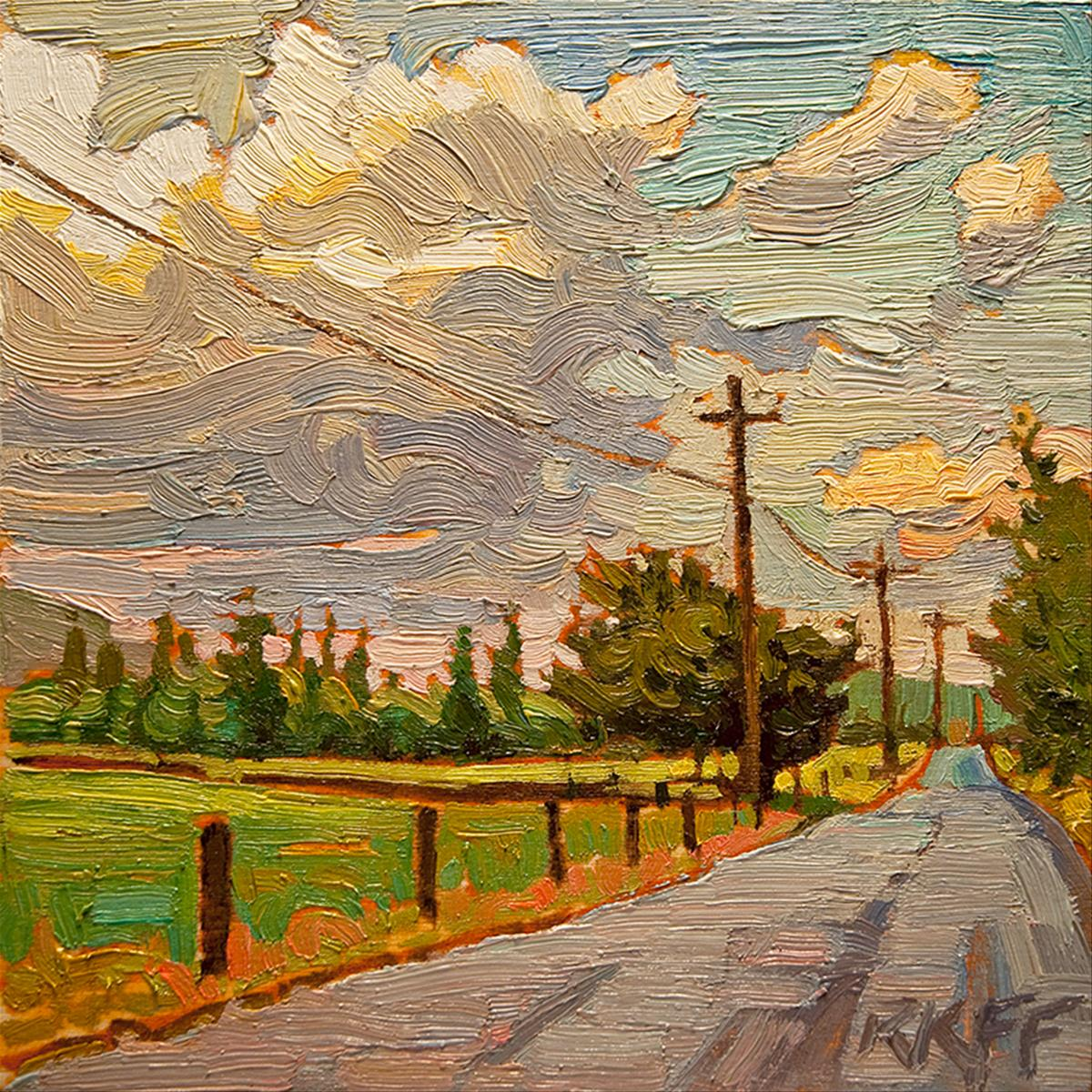 """After The Rain: 6x6 oil on panel"" original fine art by Ken Faulks"