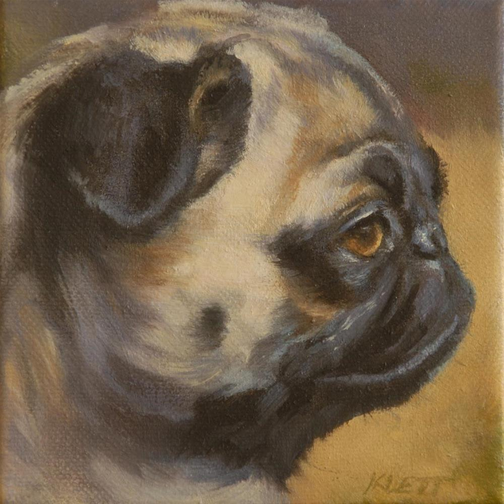 """Pug In Profile"" original fine art by Tracy Klett"