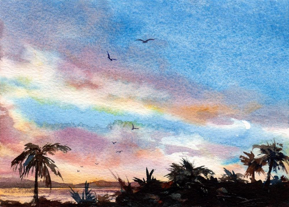 """Tropical Breeze"" original fine art by Linda Henry"