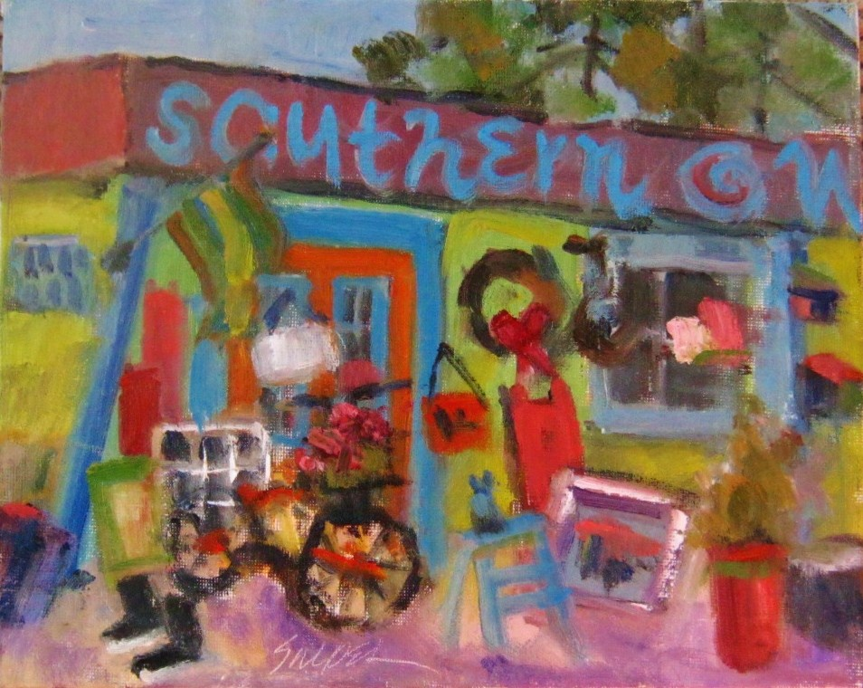 """Southern Whimsy, Weddington, NC"" original fine art by Connie Snipes"