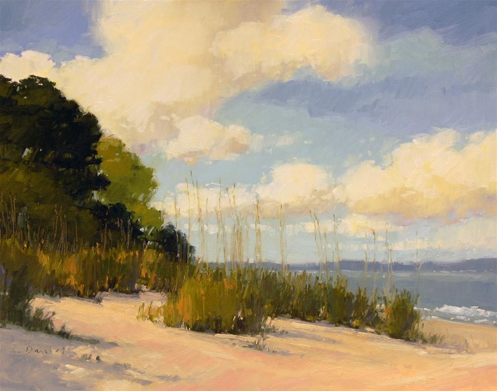"""Dune Grass Beach - enlarged"" original fine art by Laurel Daniel"