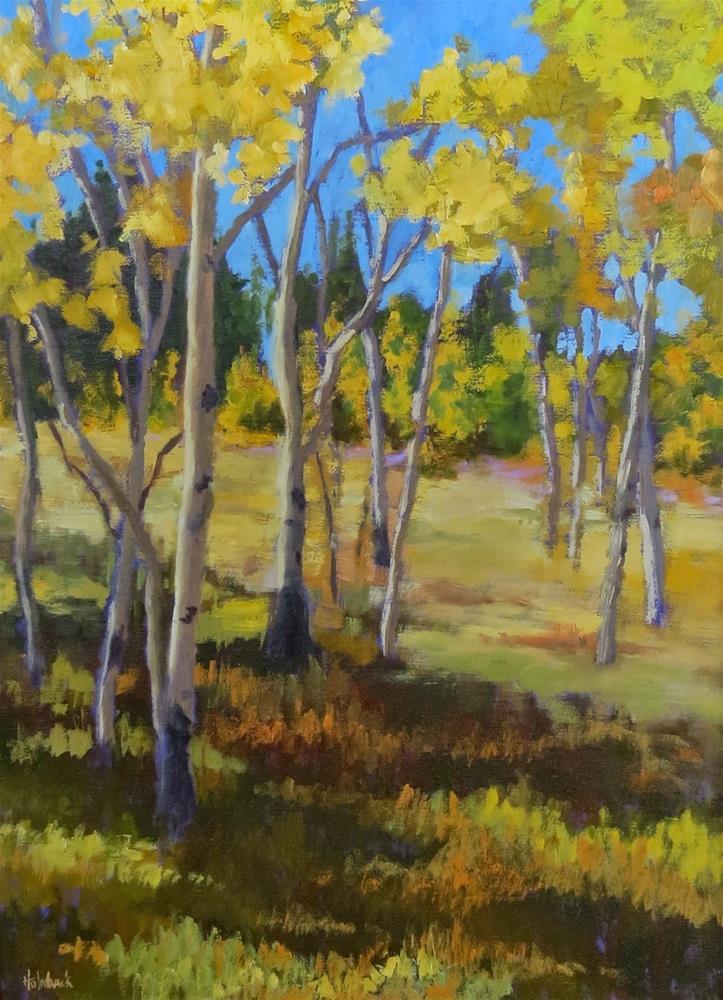 """Aspen Shadow"" original fine art by Pam Holnback"