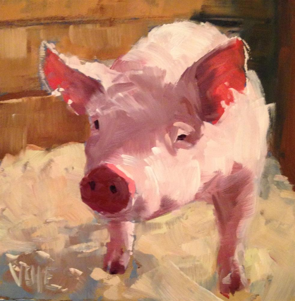 """#163 Lil Pig"" original fine art by Patty Voje"