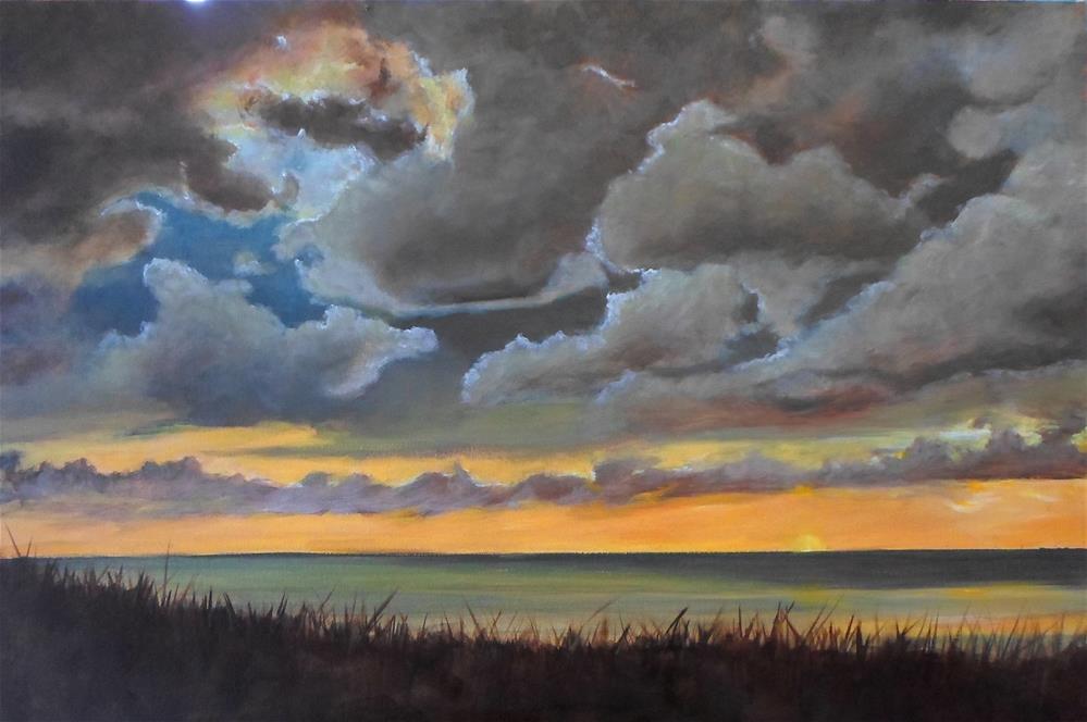 """20 x 30 inch acrylic Approaching Storm"" original fine art by Linda Yurgensen"