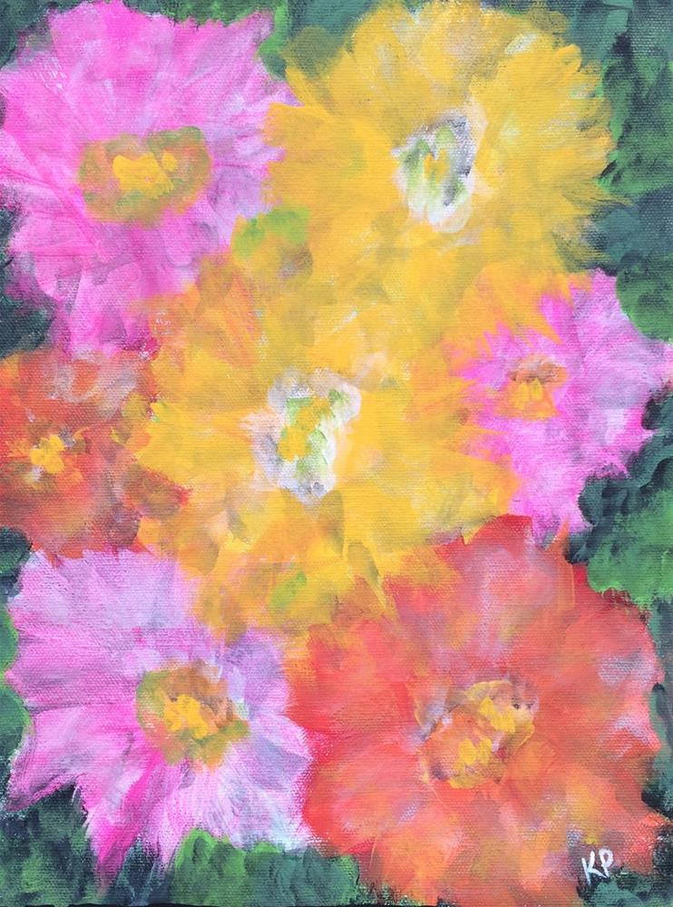 """Surrounded by Flowers"" original fine art by Kali Parsons"