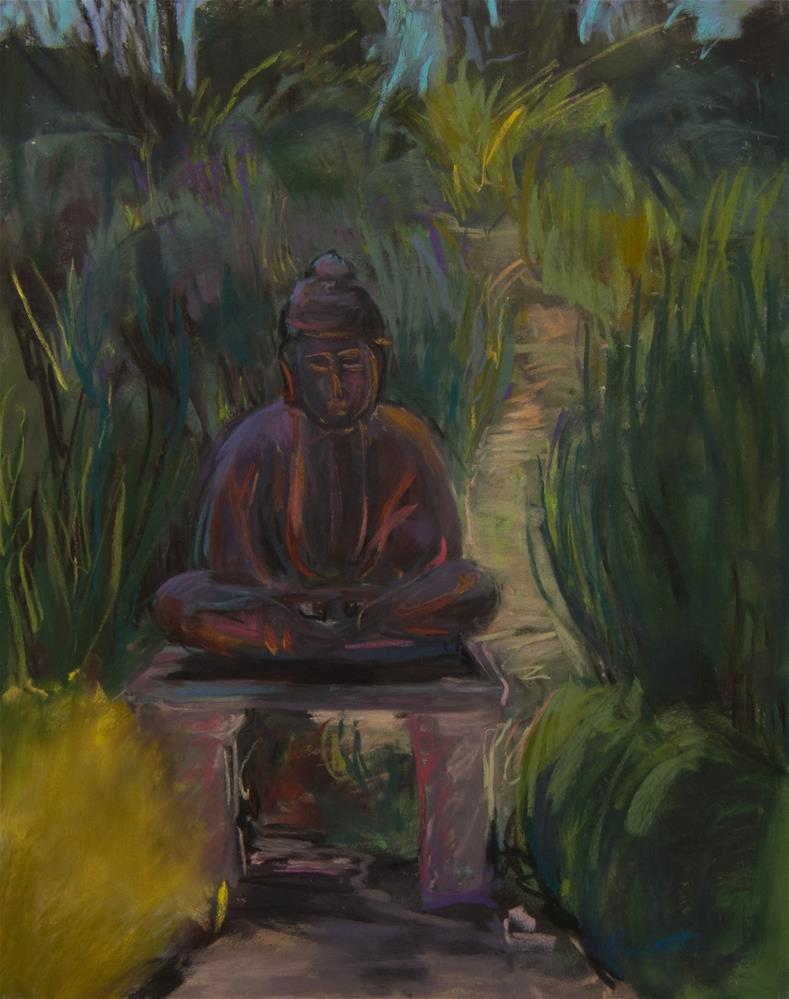 """Buddha in the Garden"" original fine art by Sarah Peroutka"