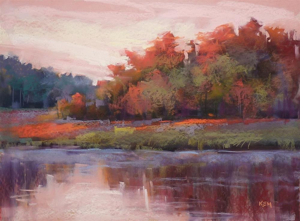 """A Magic Trick for Painting Reflections with Pastels"" original fine art by Karen Margulis"