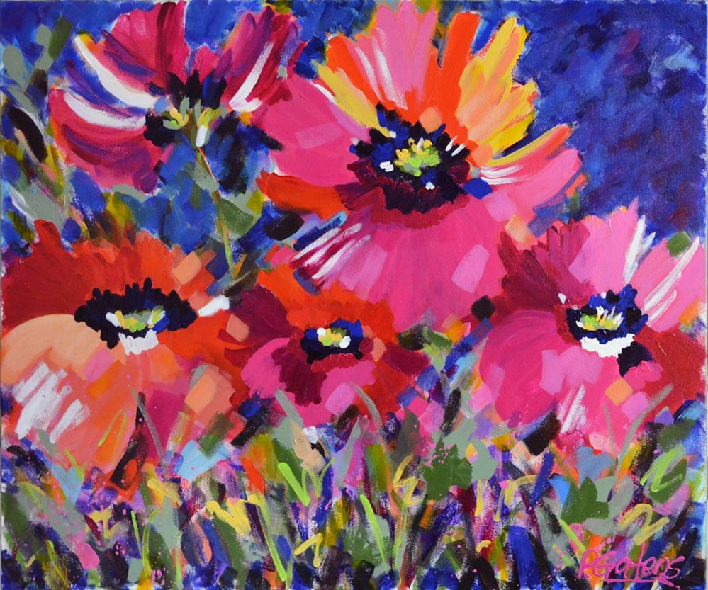 """Poppy Sunday"" original fine art by Pamela Gatens"