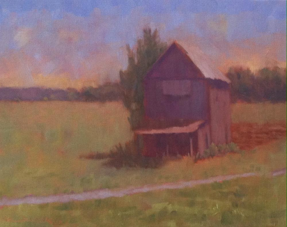 """Grey Shed"" original fine art by Katharine March"