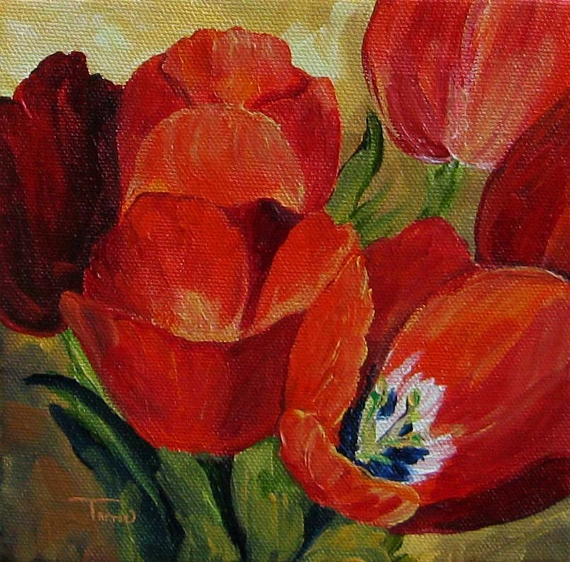"""Red Tulips"" original fine art by Torrie Smiley"