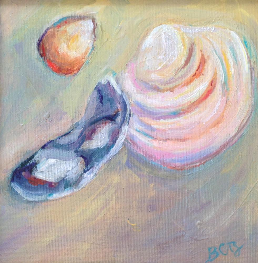 """NC Beach Shells"" original fine art by Beth Carrington Brown"