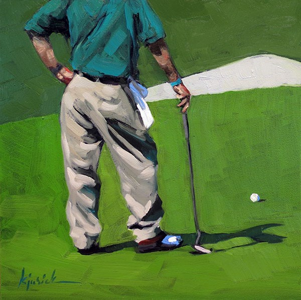 """Golf"" original fine art by Karin Jurick"