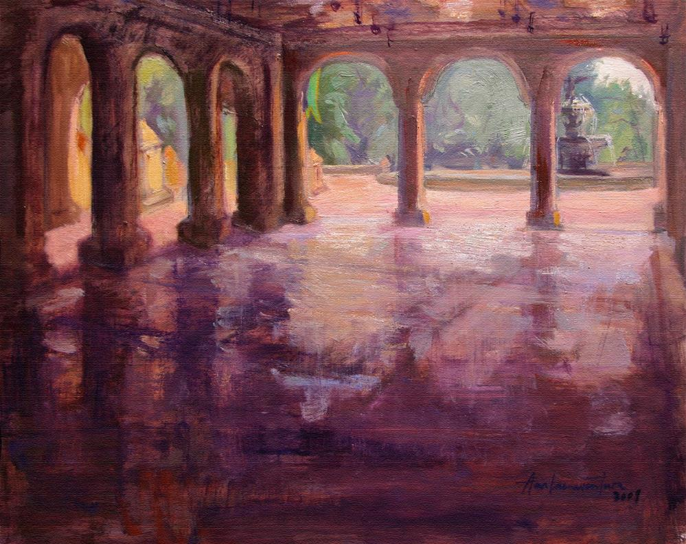 """Bethesda Terrace Arcade, New York"" original fine art by Ann Buenaventura"