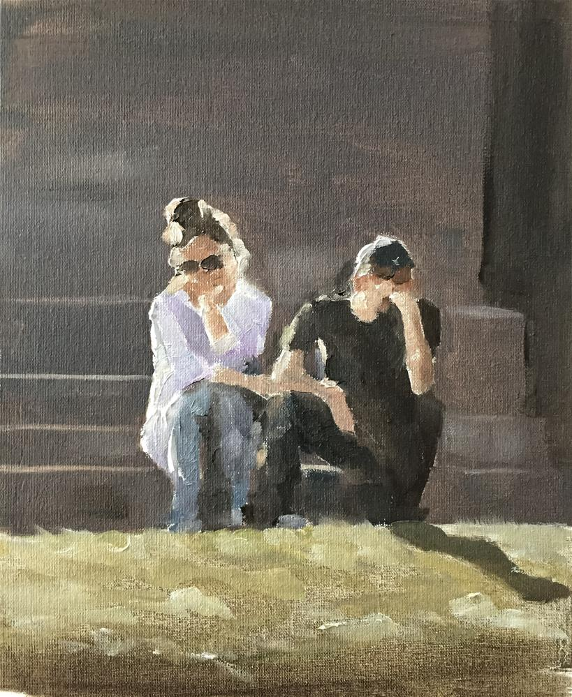 """Unhappy Couple"" original fine art by James Coates"
