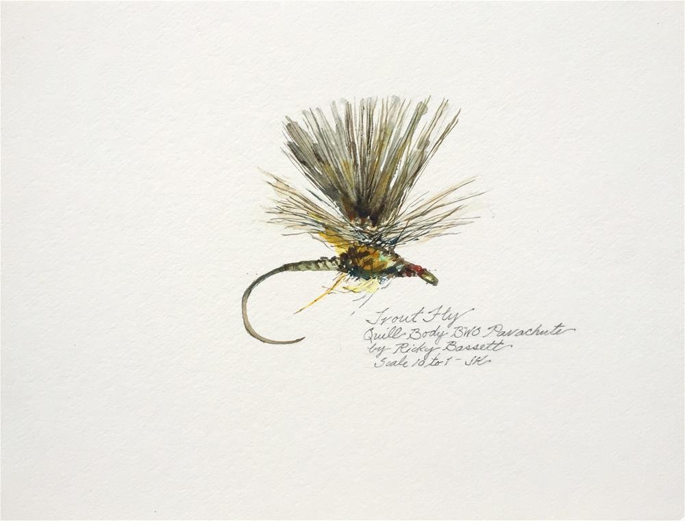 """""""Quill Body BWO Parachute - Bassett"""" original fine art by Jean Krueger"""