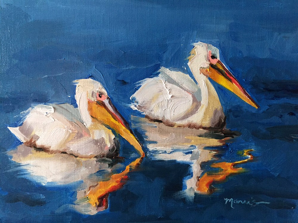"""Reflecting"" original fine art by Marcia Hodges"