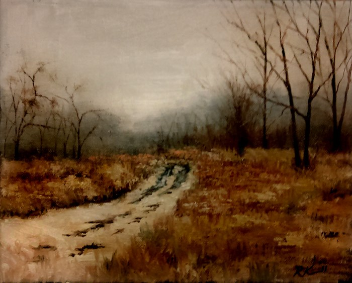"""Prairie Road"" original fine art by Bob Kimball"