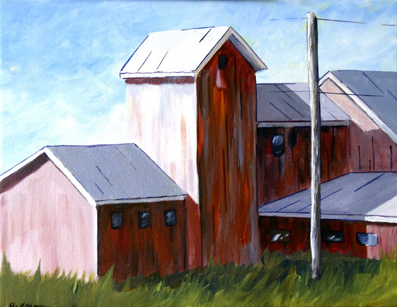 """Shadow Side of the Barn"" original fine art by Anna Vreman"