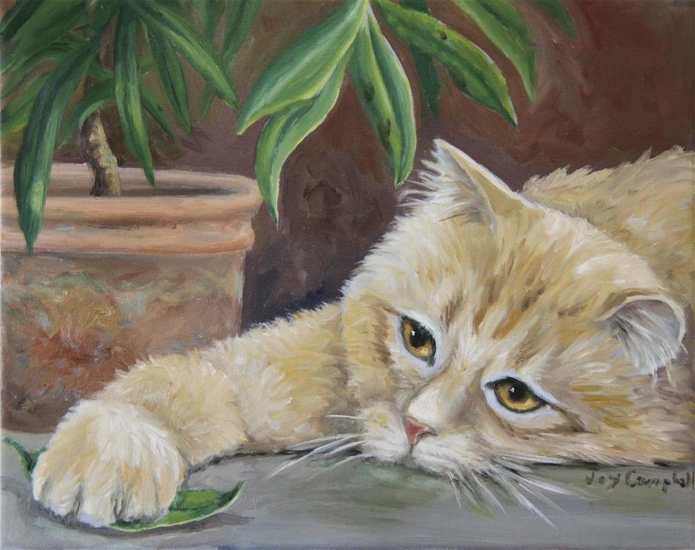 """Bored"" original fine art by Joy Campbell"