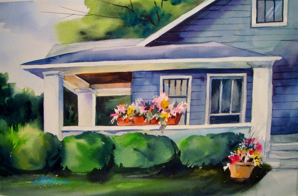 """Gramma's Porch"" original fine art by Kathy Los-Rathburn"