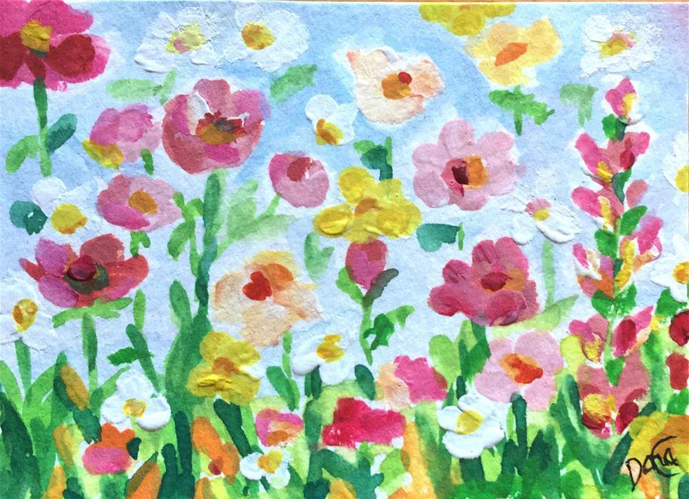 """Flower Dream"" original fine art by Dana C"