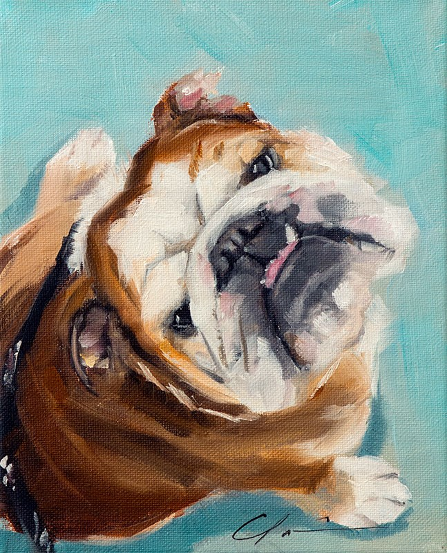 """PAINT MY DOG - Huck"" original fine art by Clair Hartmann"