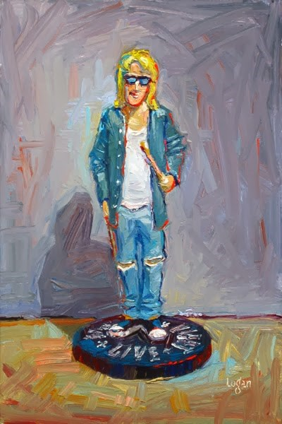 """Garth Algar of Wayne's World Fame (Figurine)"" original fine art by Raymond Logan"