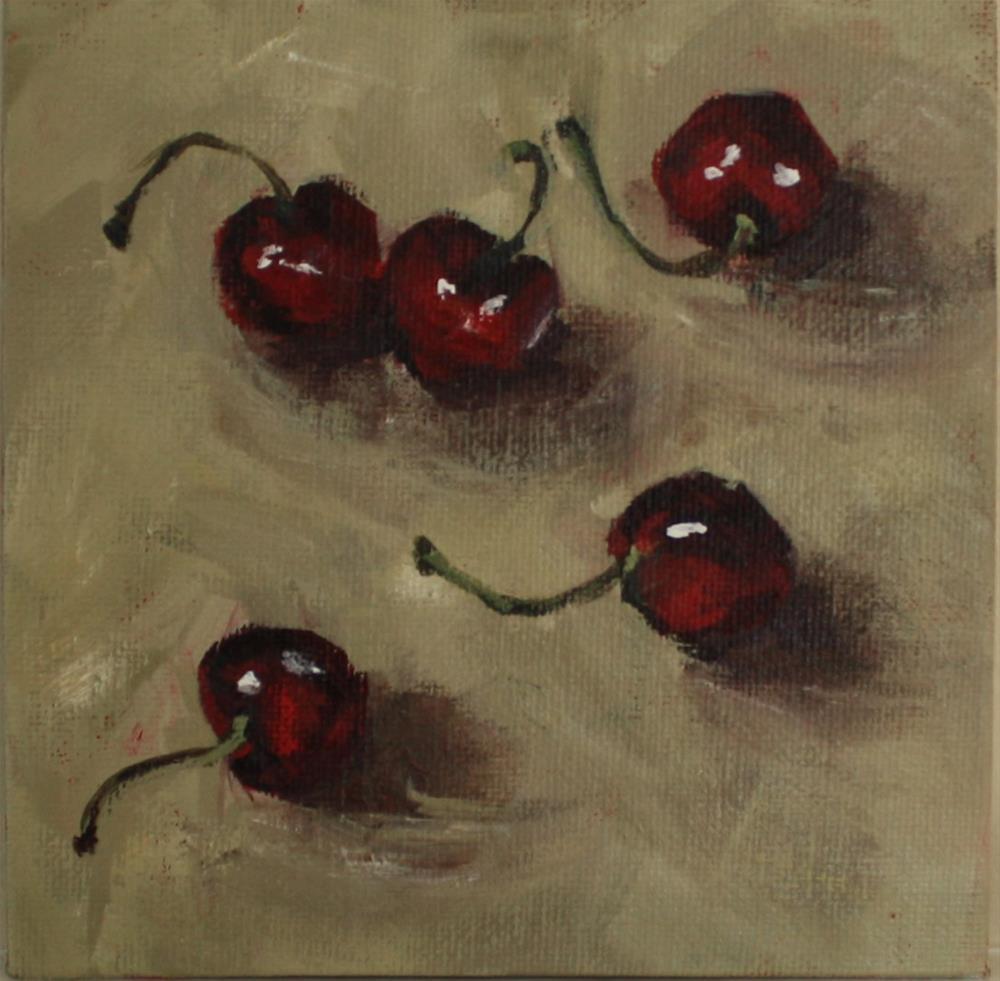 """""""Five Cherries"""" original fine art by Shannon Bauer"""