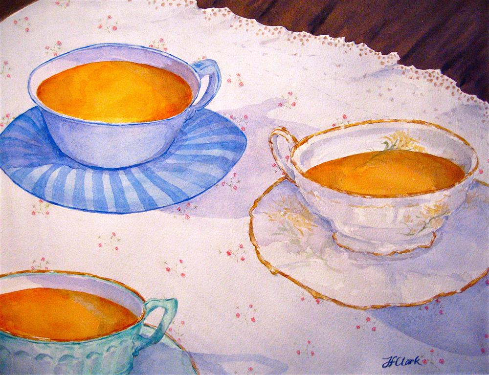 """Three Cups of Tea"" original fine art by Judith Freeman Clark"