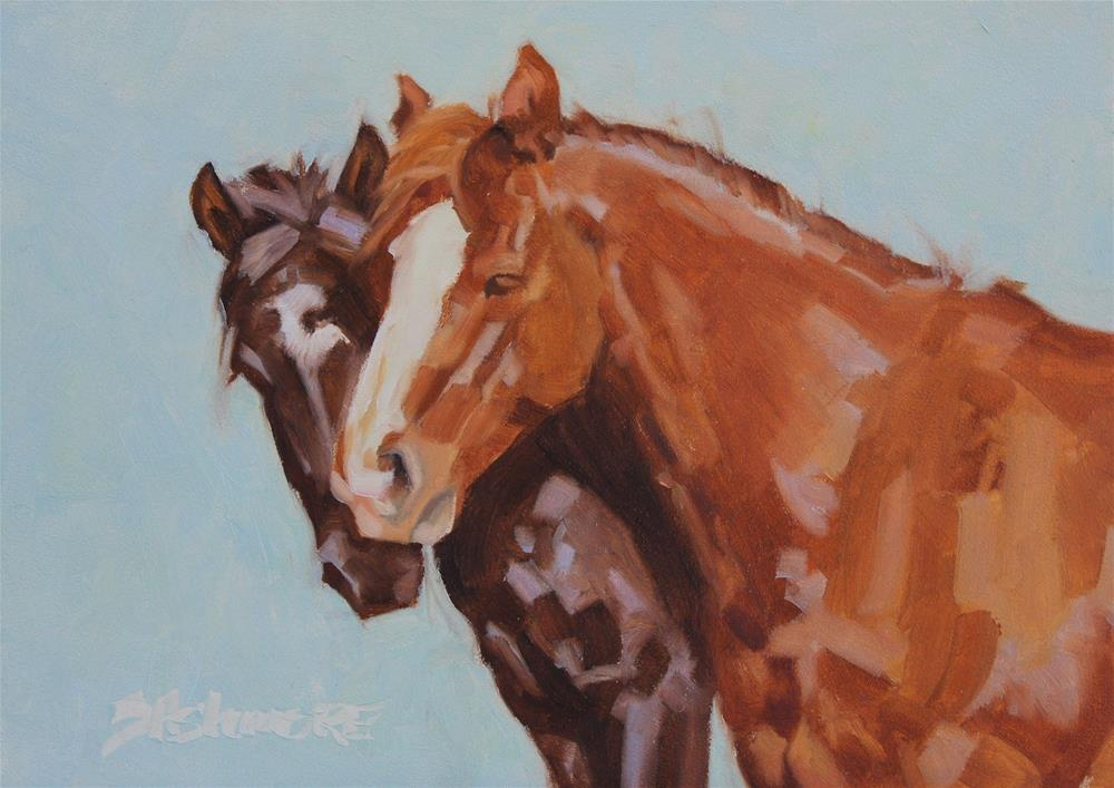"""''Friends II''"" original fine art by Susan Ashmore"