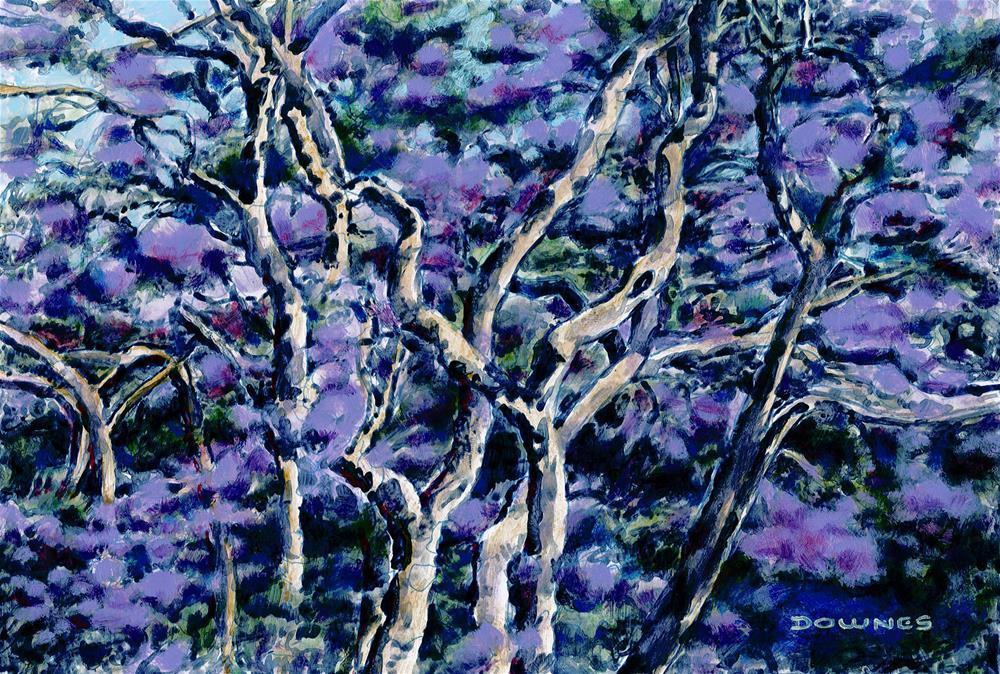 """""""003 JACARANDA 1"""" original fine art by Trevor Downes"""
