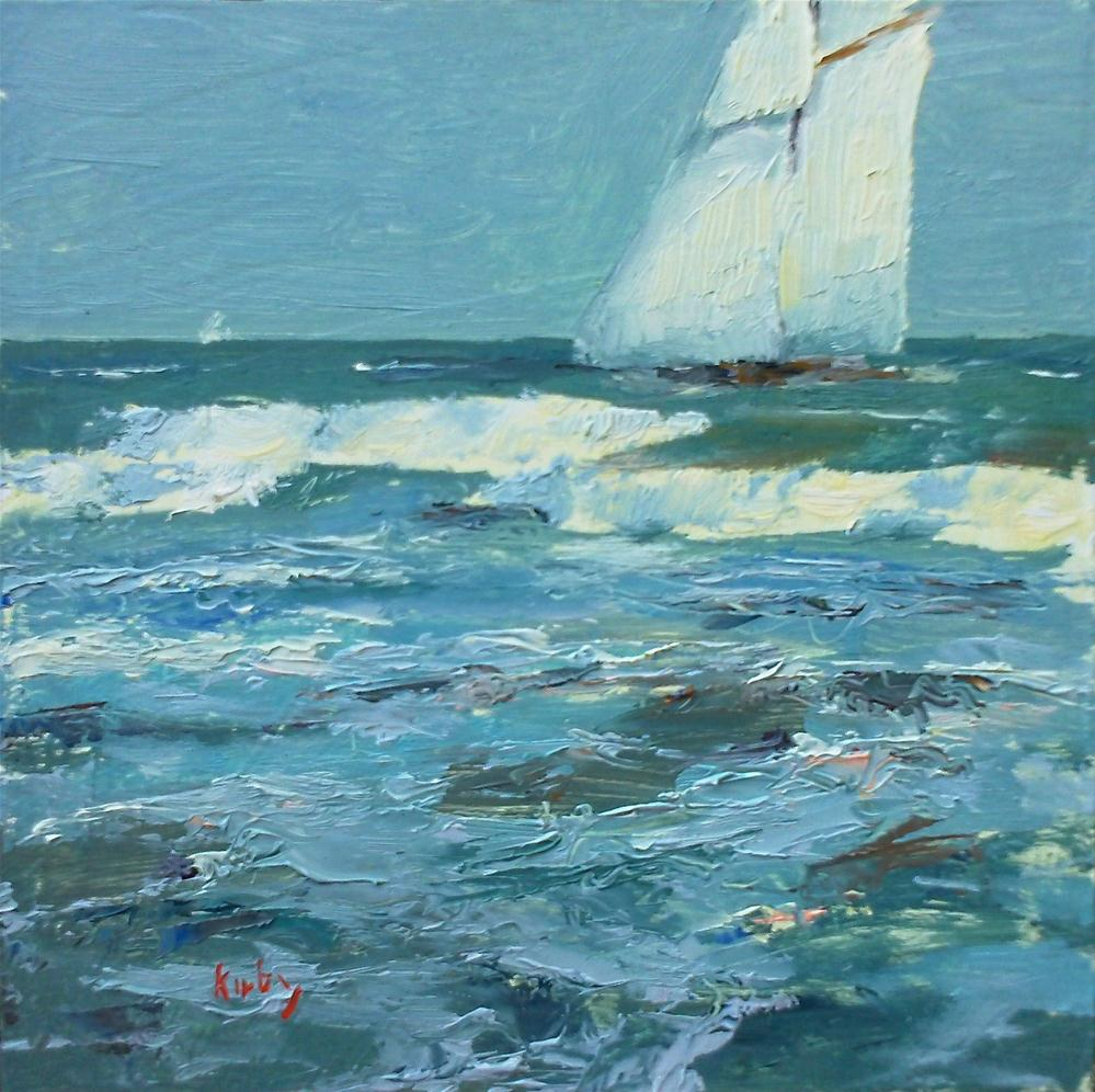 """Sailing By"" original fine art by Randall Cogburn"