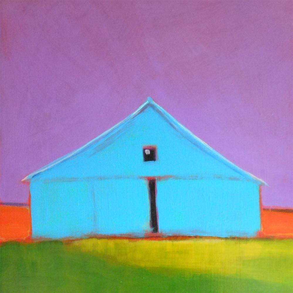 """Not Your Average Red Barn"" original fine art by Almira Hill Grammer"