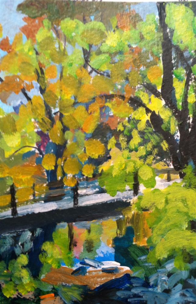 """Dpw Autumn Challenge"" original fine art by Christine Parker"