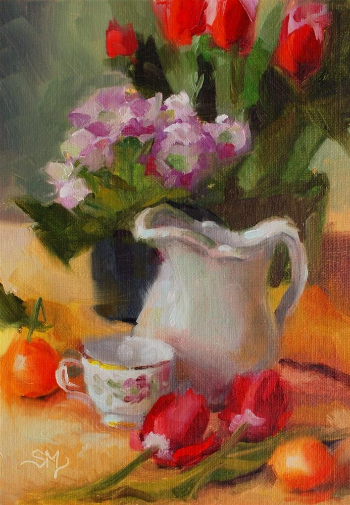 """No. 578 Spring Still Life"" original fine art by Susan McManamen"